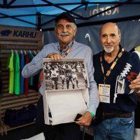 4. Franco Arese, presidente onorario di Karhu, con l'ex campione di atletica Renato Dionisi